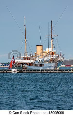 Stock Photographs of The Danish royal yacht Dannebrog in.