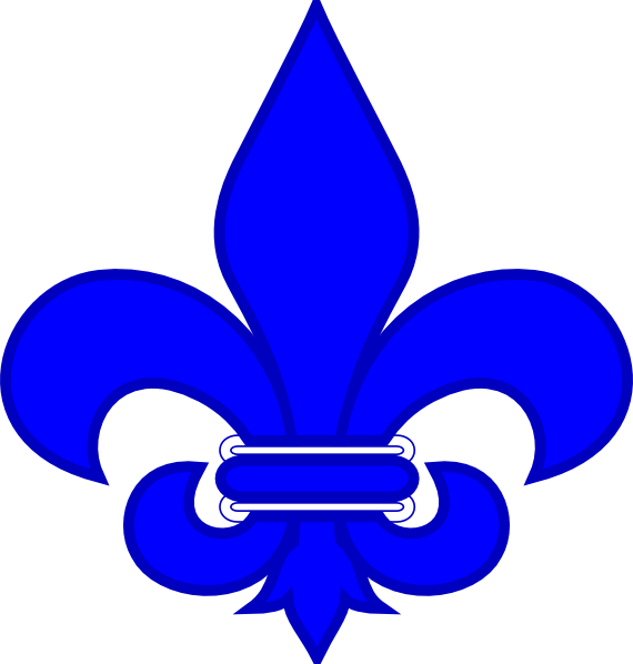 Royal Blue Fleur De Lis Clip Art at Clker.com.