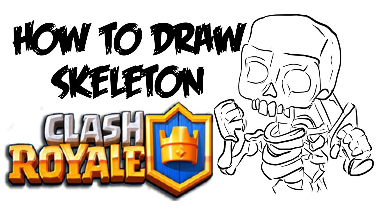 How to Draw Skeleton (Clash Royale).