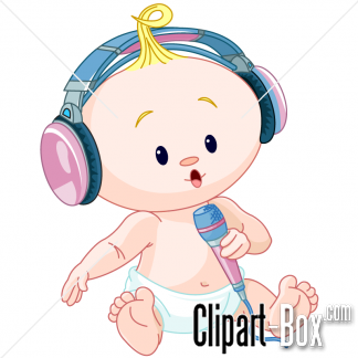 CLIPART SINGING BABY.