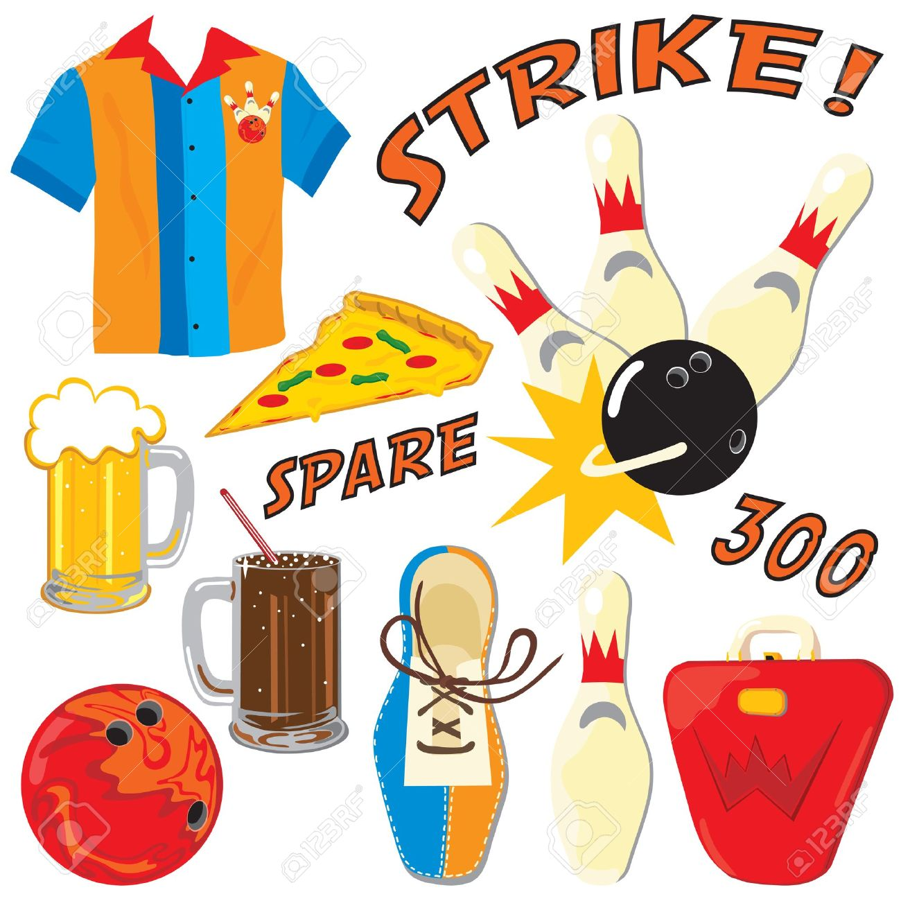 Royalty Free Bowling Clipart.