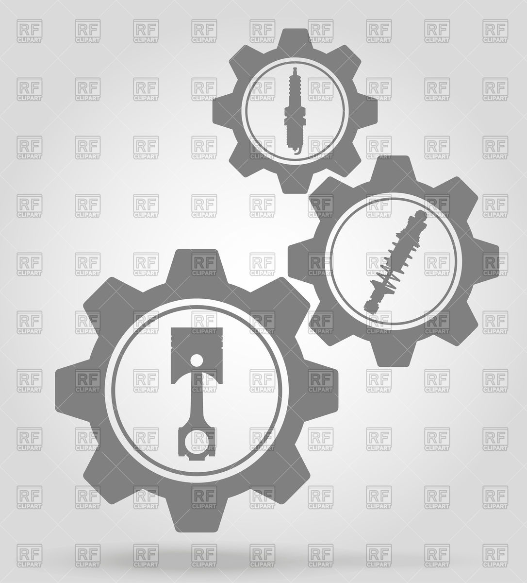 Car parts gear icons Vector Image #96860.