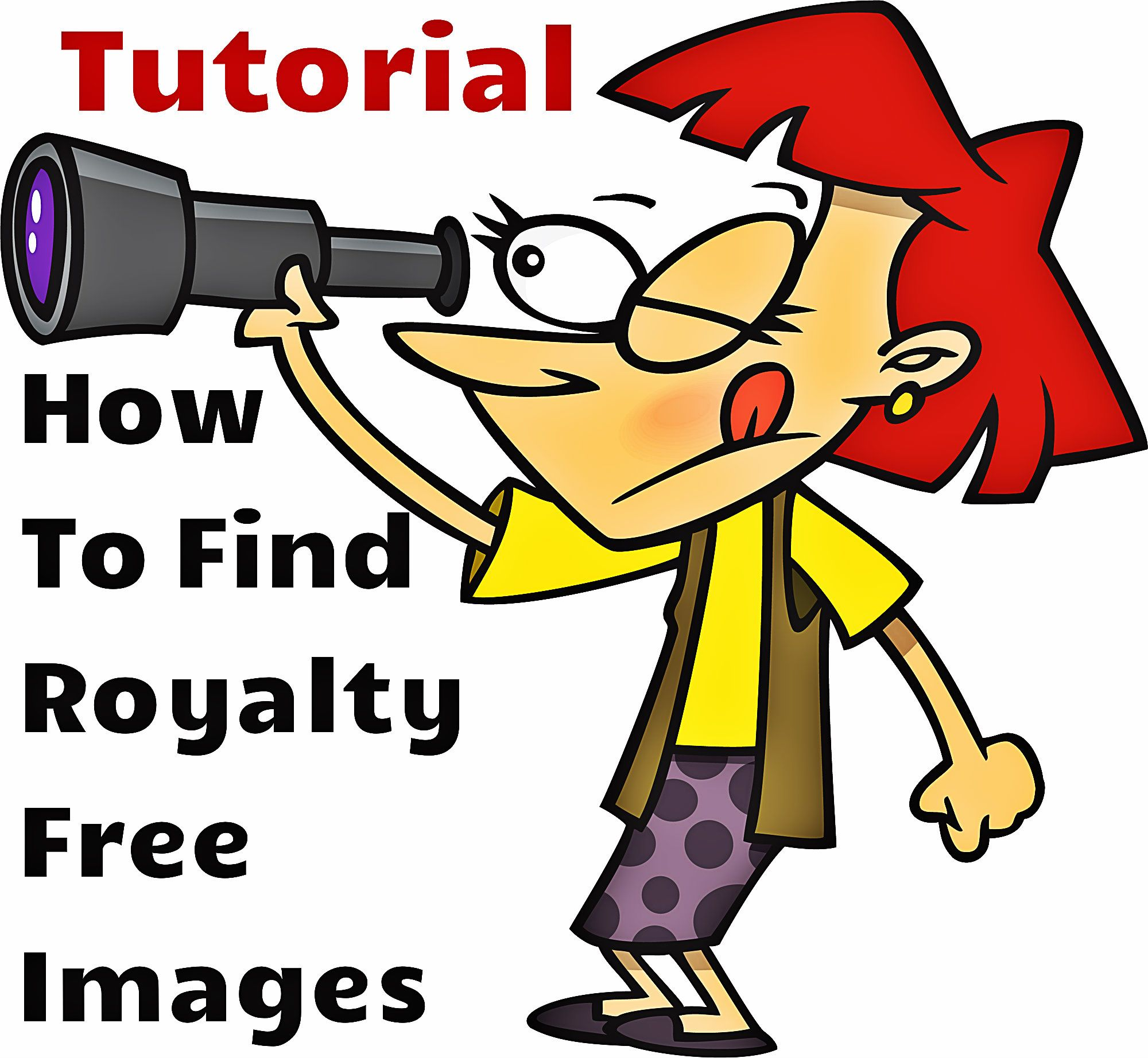 Free tutorial on how to find royalty free images and clipart.