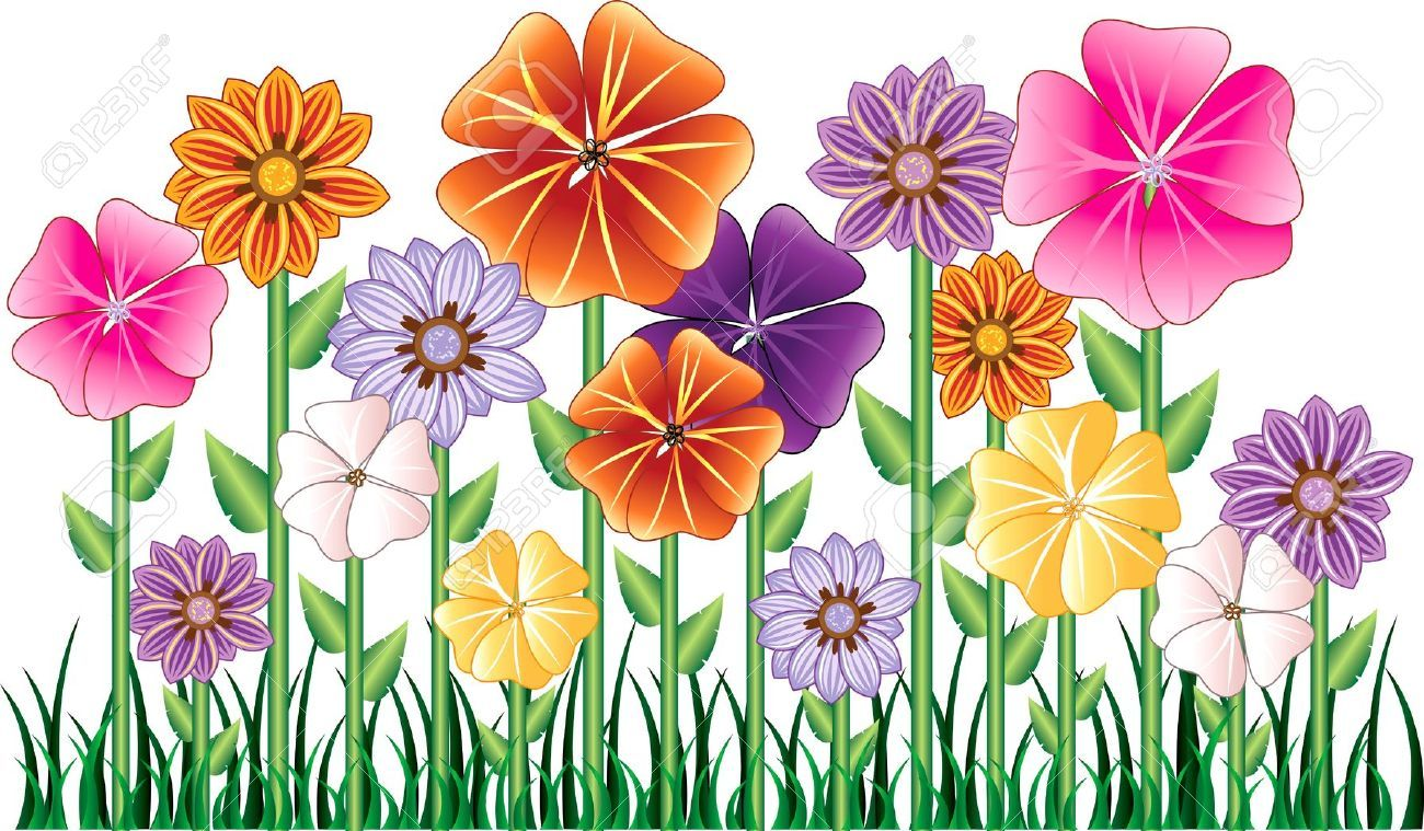 Flowers Cartoon Stock Vector Illustration And Royalty Free.