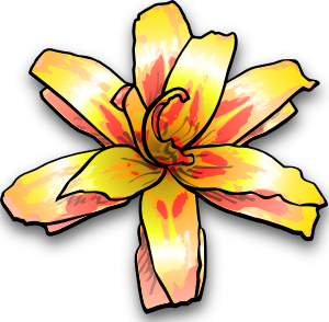 Yellow Flower Clip Art at Clker.com.