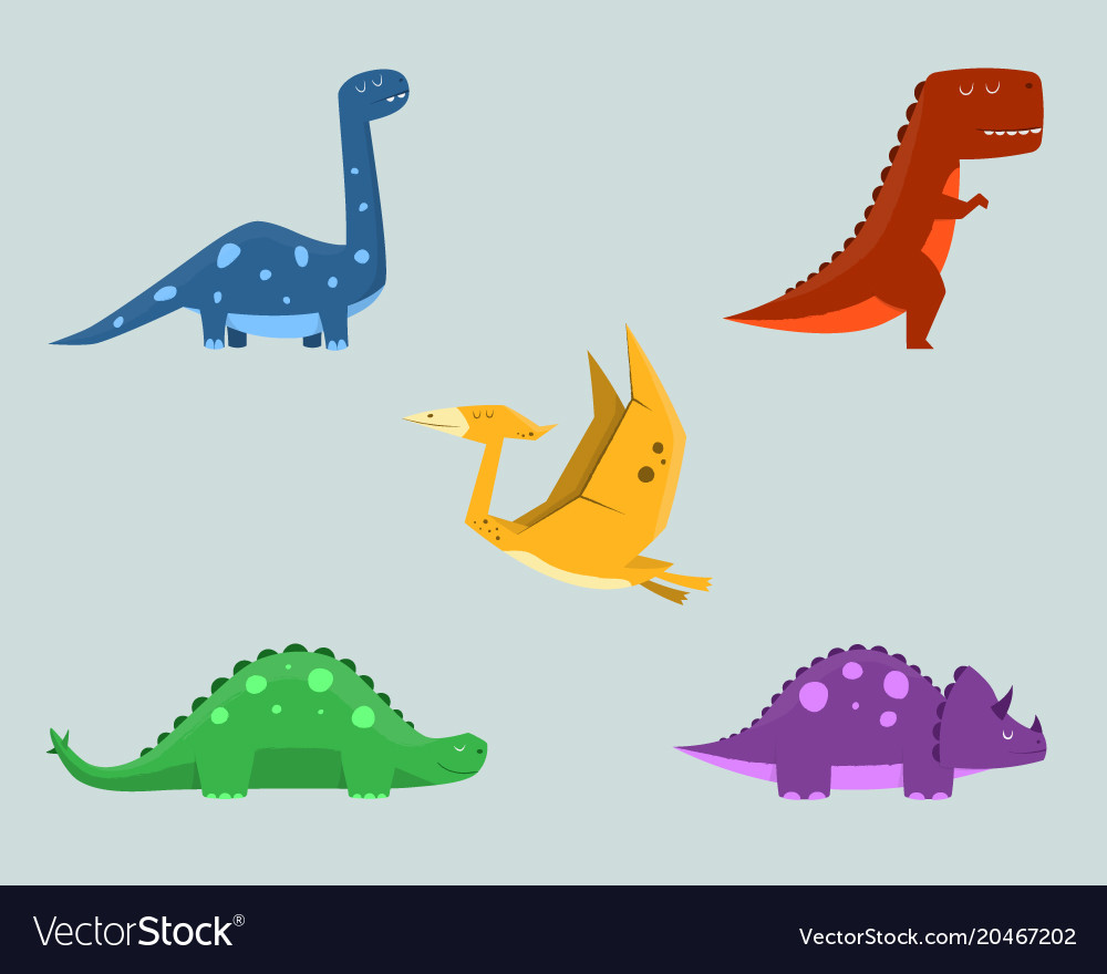 Dinosaur clipart set for commercial use.