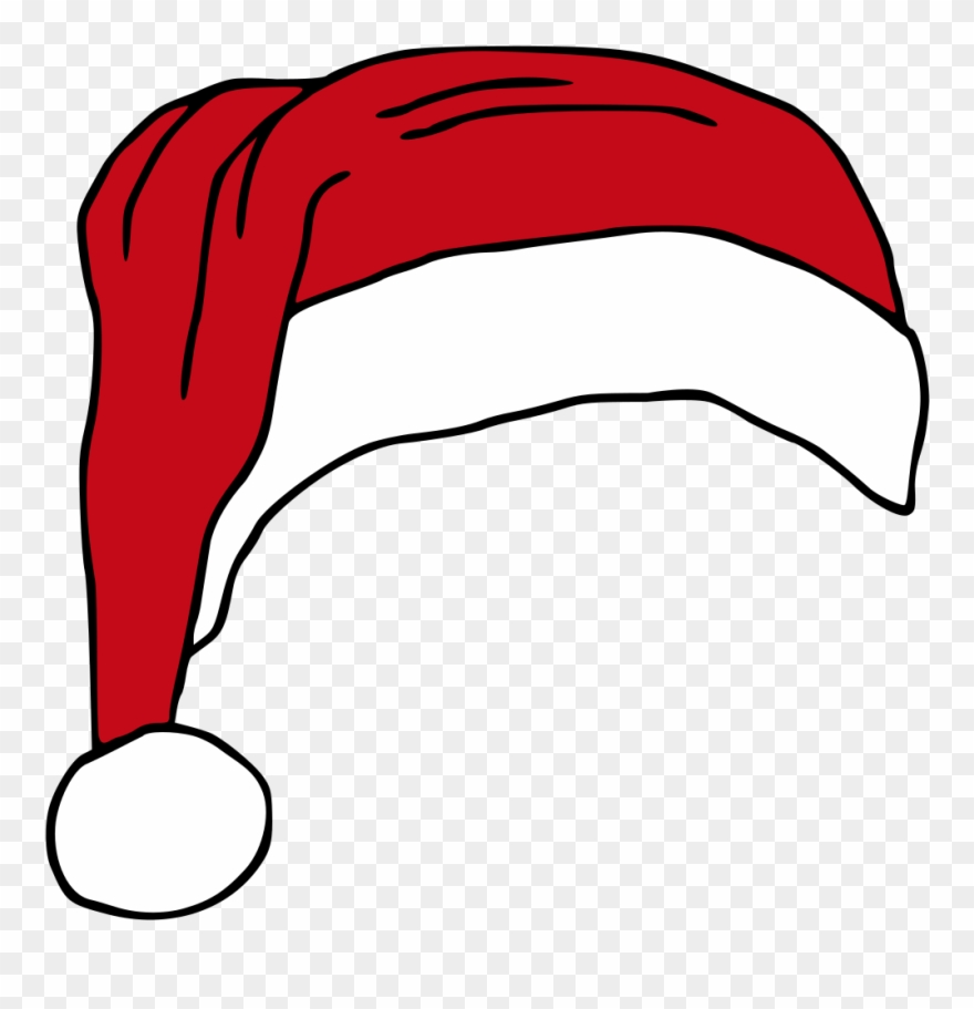 Santas Hat Hat Vector, Royalty Free Clipart, Christmas.