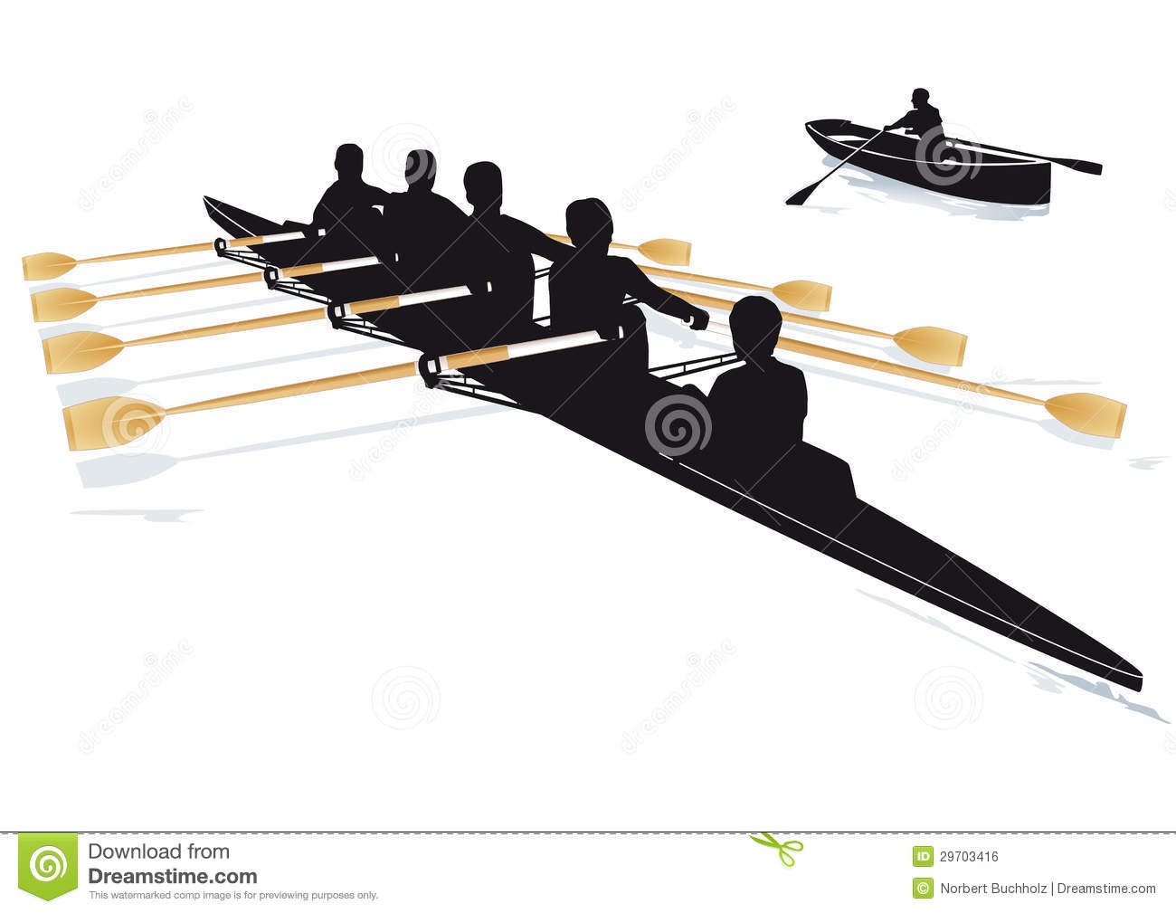 Rowing Boats Royalty Free Stock Image.