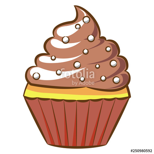cupcake clipart design\