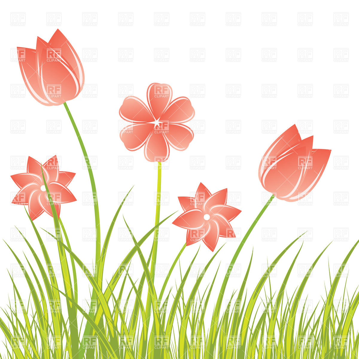 Royalty Free Flower Clipart.