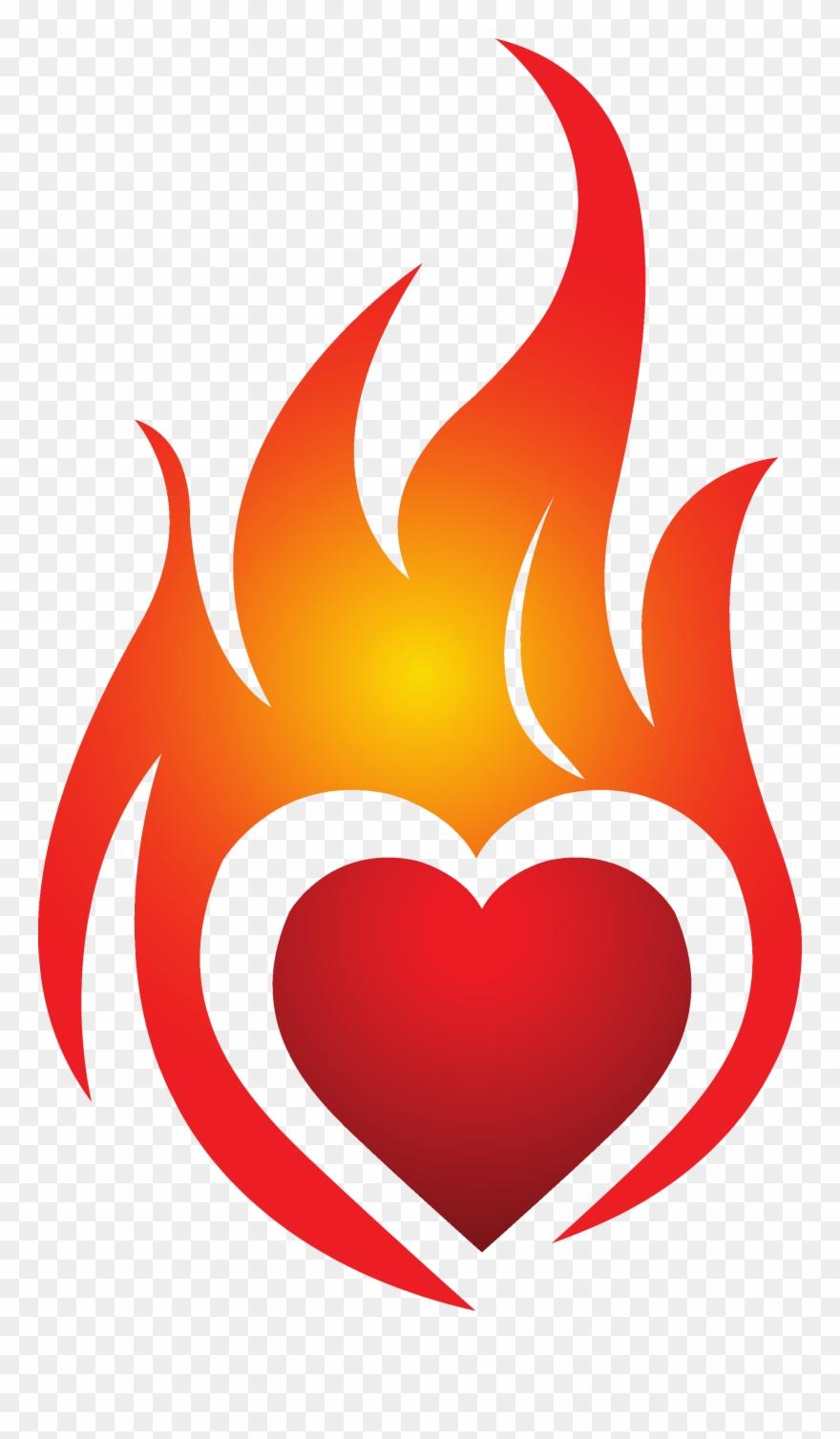 Heart On Fire Jpg Royalty Free Stock Techflourish.