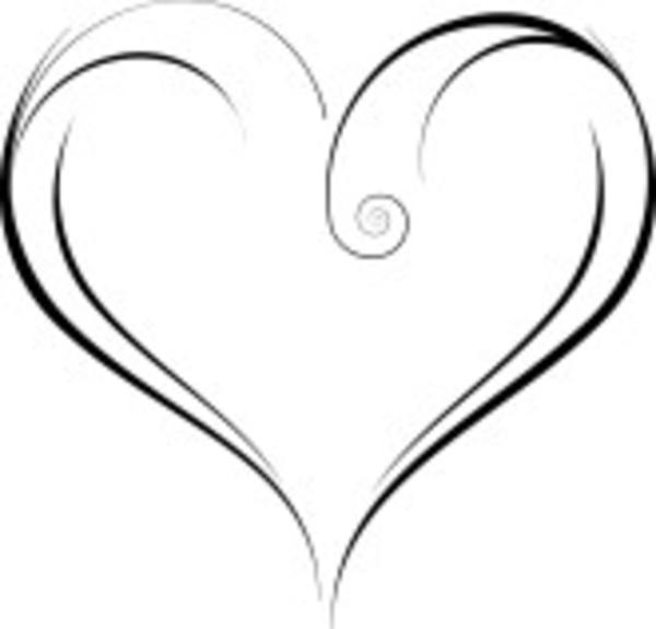 Elegant Heart Clipart.