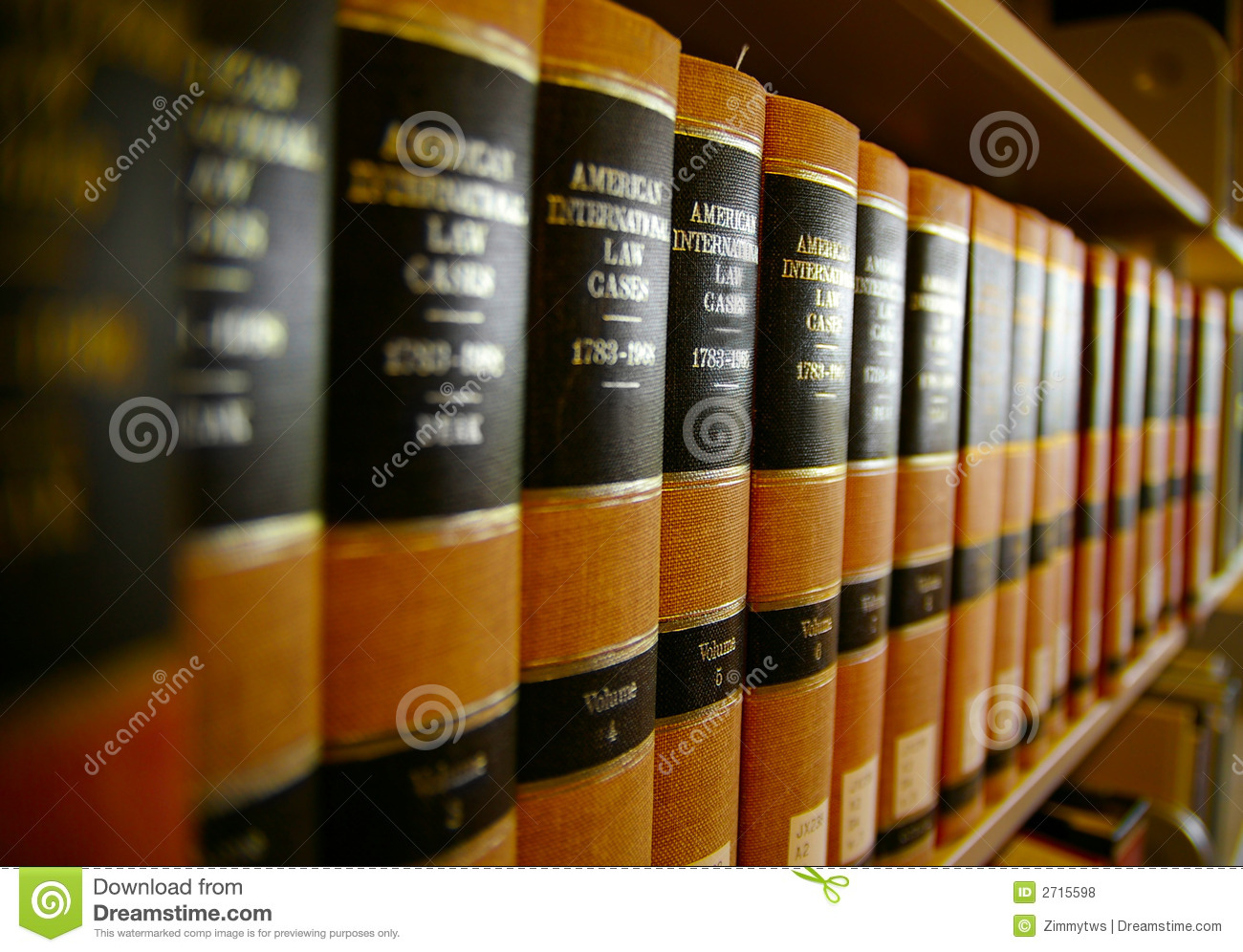 Law Books Royalty Free Stock Photos.
