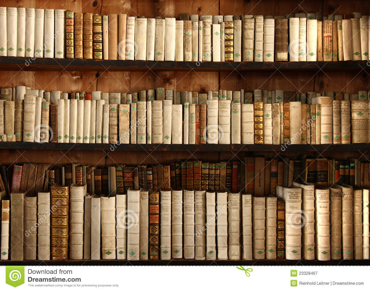 Old Books On A Shelf Royalty Free Stock Photography.
