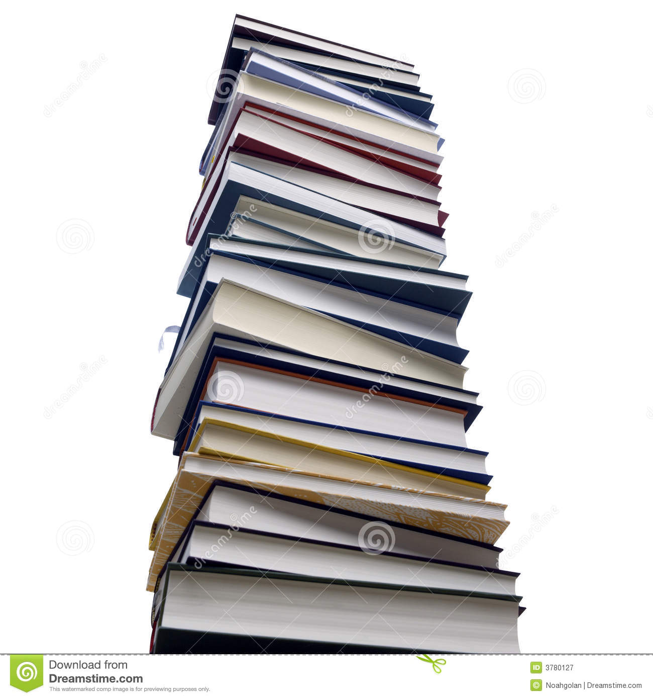 Stack Of Books Royalty Free Stock Photography.
