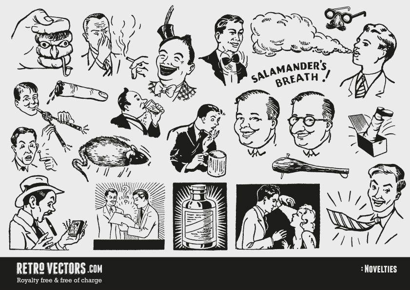 50s novelty advert clipart.