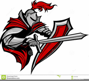 Knight School Mascot Clipart.