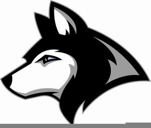 Husky Mascot Clipart.