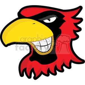 cardinal mascot clipart. Royalty.