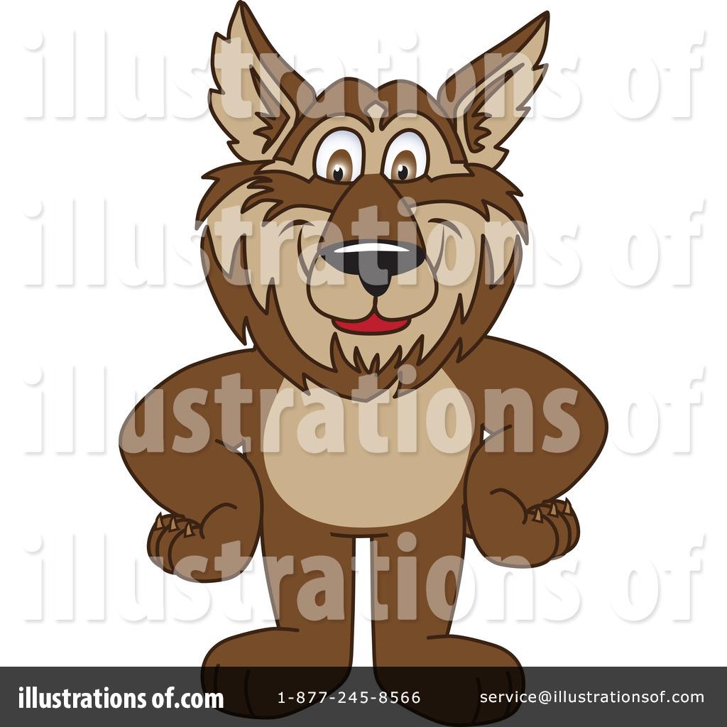 Wolf Mascot Clipart #226772.