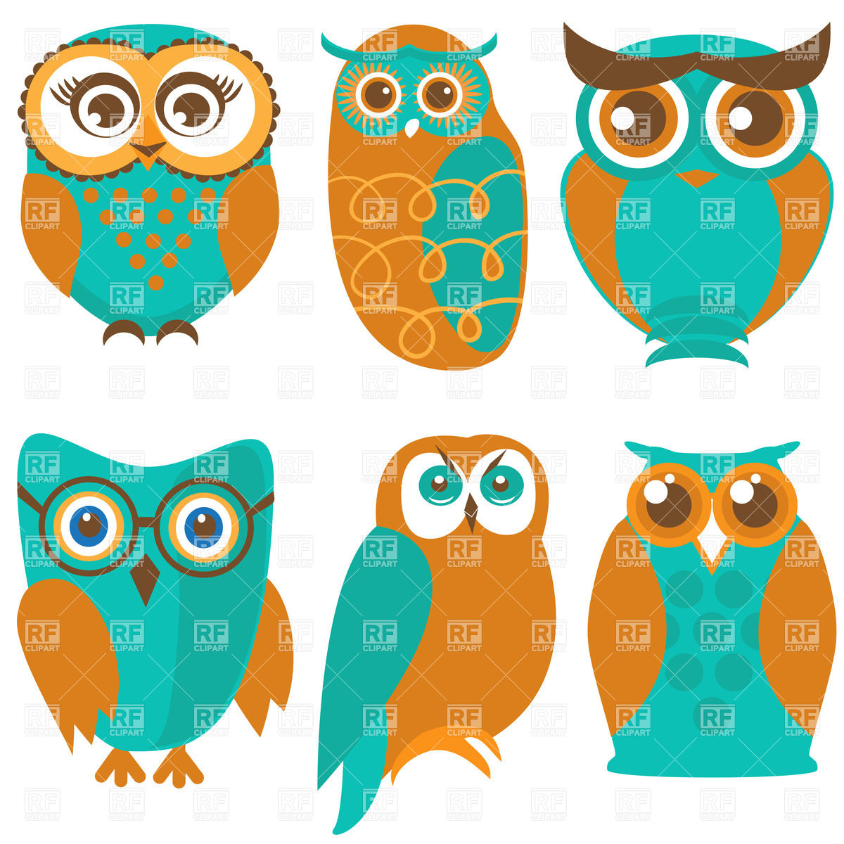 Royalty Free Owl Clipart.