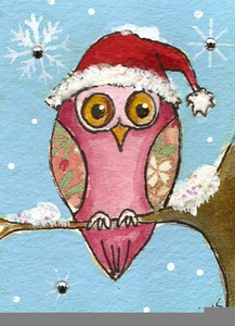 Whimsical Owl Clipart.