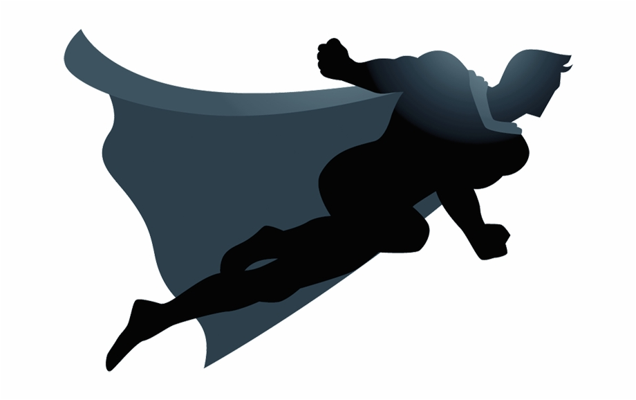 Flying Superhero Silhouette Png Clip Art Royalty Free.