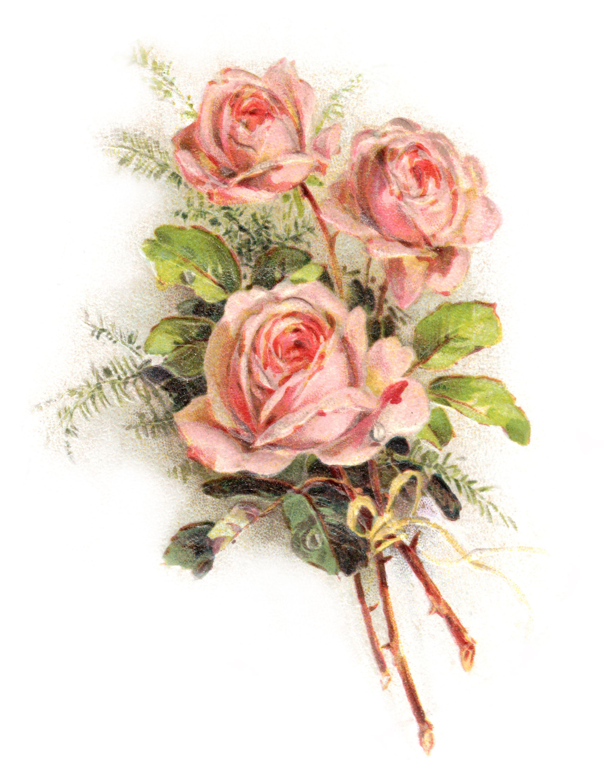Royalty Free Images: Romantic Rose Clip Art.