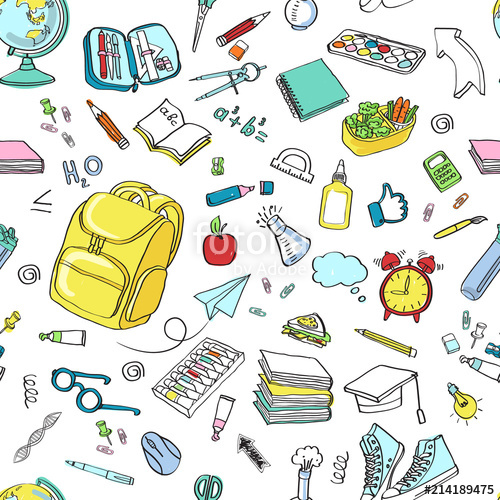 School clipart Vector doodle school icons symbols\