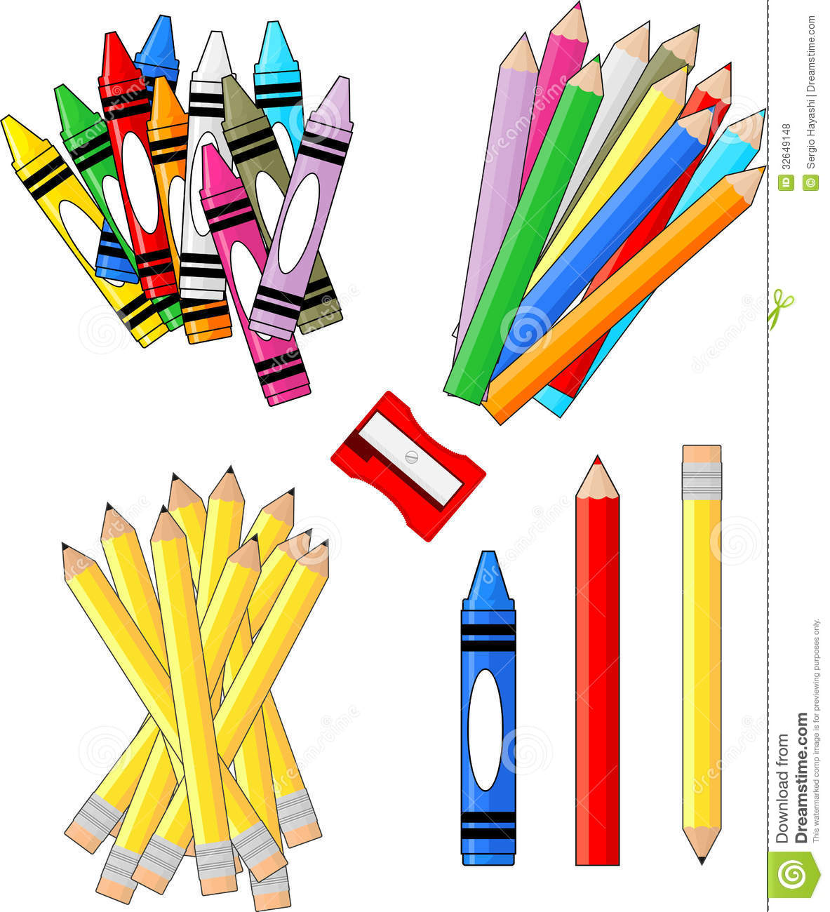 School Materials Clipart.