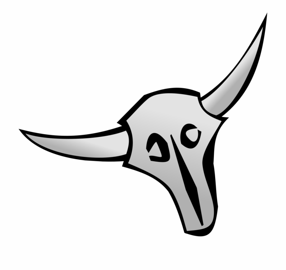 Royalty Free Library Bull Skull Clipart.