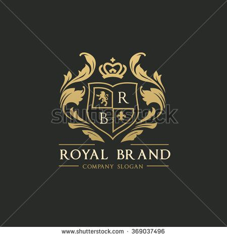 Royal Brand Logo,Crown logo,Lion Logo,Crest logo,Vector logo.