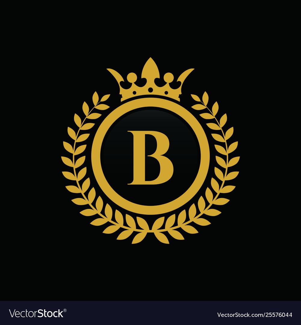 Letter b crown logo.
