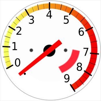 Rpm gauge clipart.