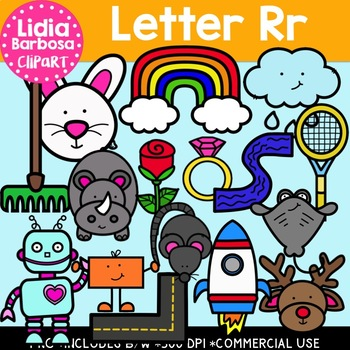Letter Rr Digital Clipart.