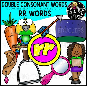 Double Consonant RR Words Clip Art Set {Educlips Clipart}.
