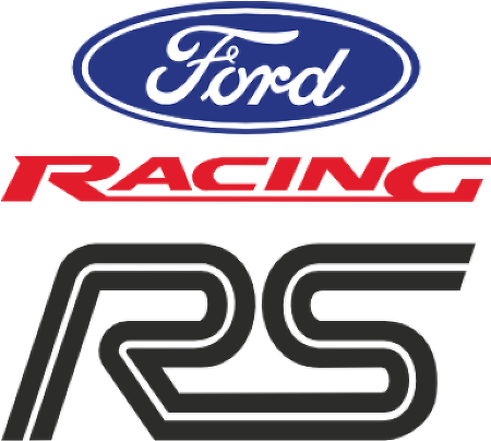 RS Ford Racing™ logo vector.