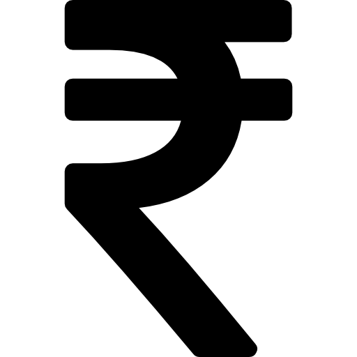 Rupee indian Icons.