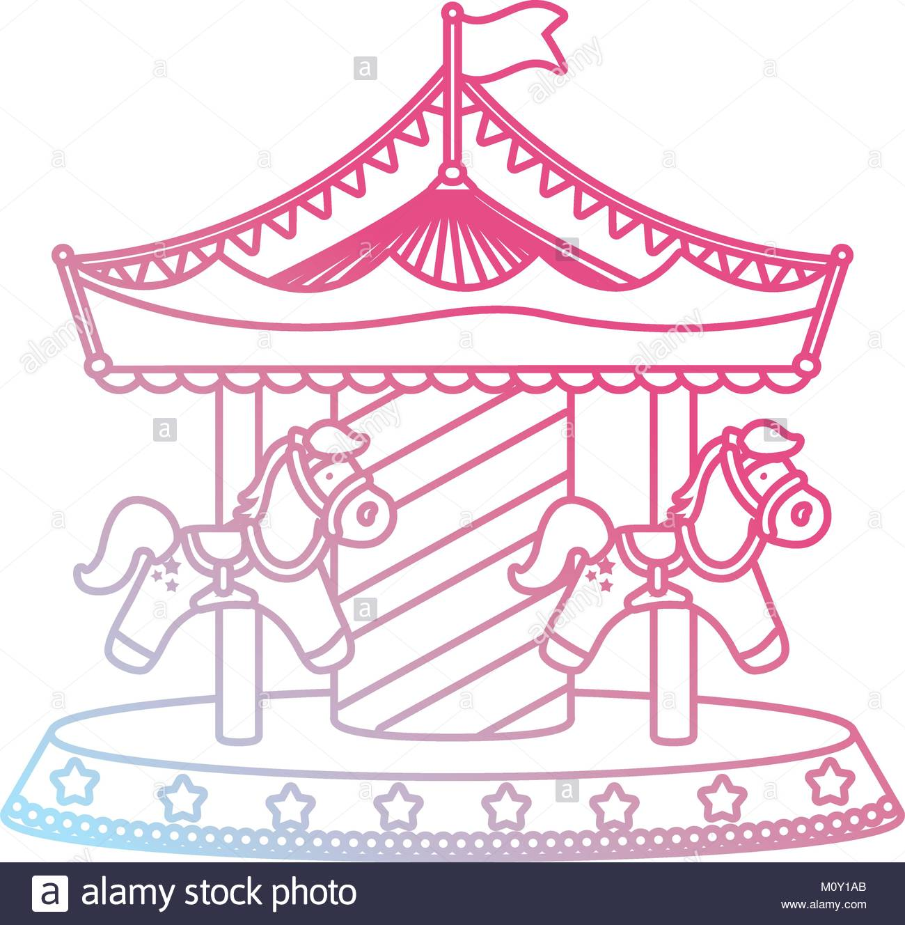 Carousel clipart tent circus pink.