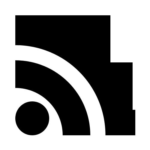 Black rss logo icon png #11293.