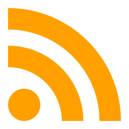 Rss Logo Icon of Flat style.