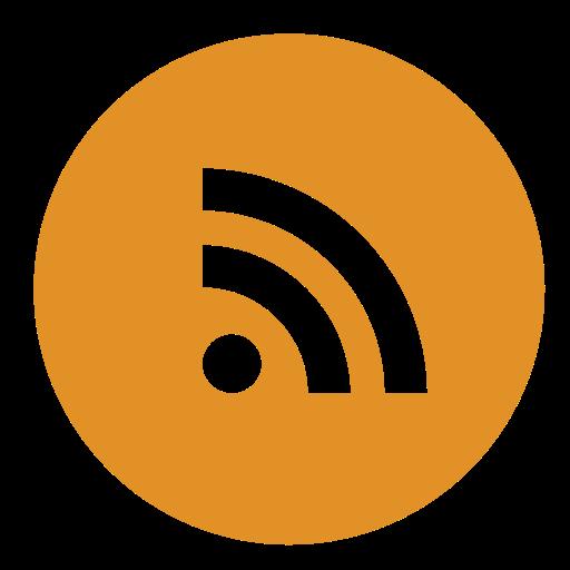 Circle, rss icon.