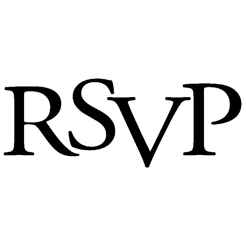 RSVP Clipart.