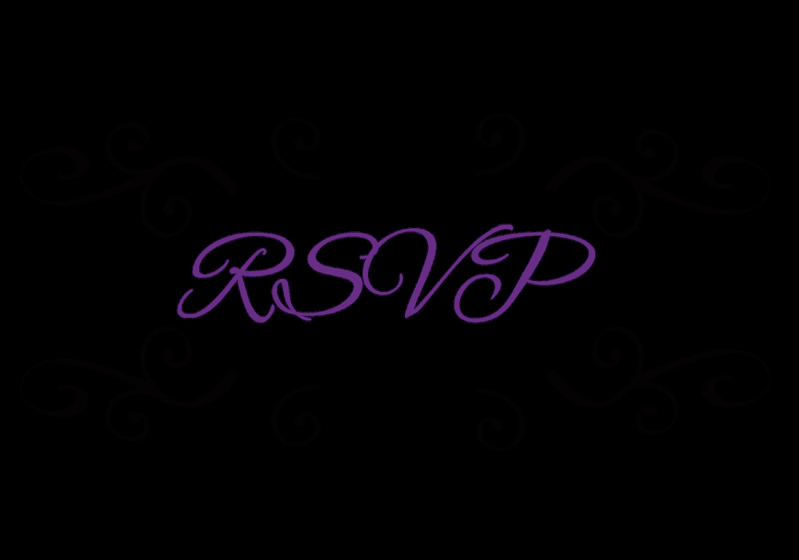 Rsvp clipart free.