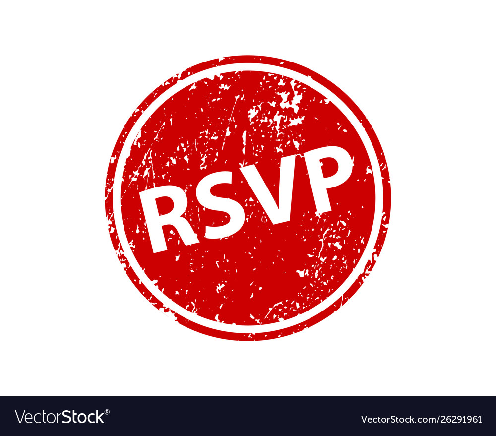 Please respond stamp texture rsvp rubber cliche.