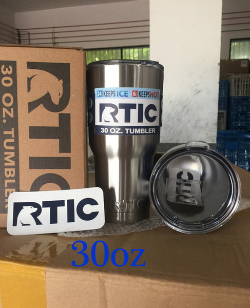 30oz RTIC 304 Stainless Steel 30oz RTIC Logo Cups Tumbler Rambler Cups  Sharp As YETI 30oz Mugs Rtic Cups With Lids Large Tea Mugs Large Travel  Coffee.