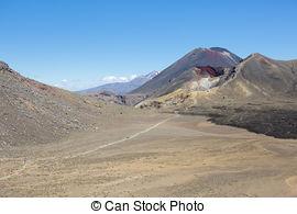 Stock Photo of Mt Ruapehu in Tongariro National Park, New Zealand.