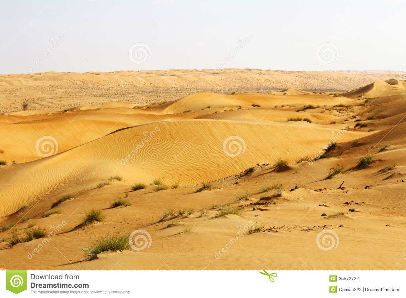 Dunes Of The Rub Al Khali Or Empty Quarter. Straddling Oman, Sau.