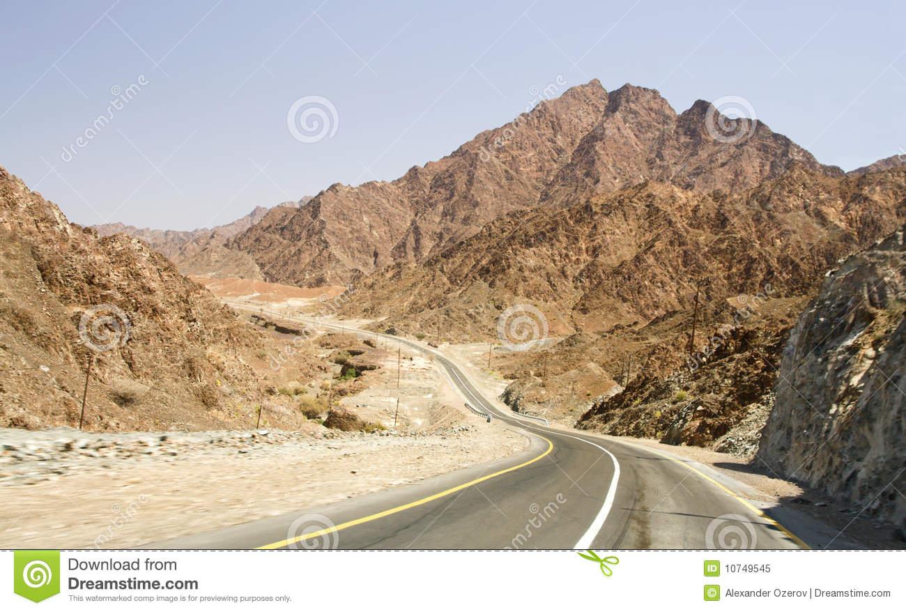Road In Desert Rub' Al Khali, UAE Royalty Free Stock Photo.