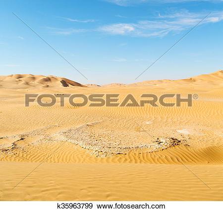Stock Photograph of in oman old desert rub al khali the empty.
